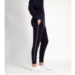 The Upside Jackie Navy Blue Velour Joggers